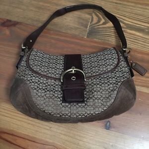 Coach Hobo Cloth and Suede Bag (great Fall purse!)